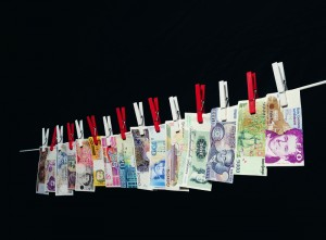 Washing Line of Banknotes