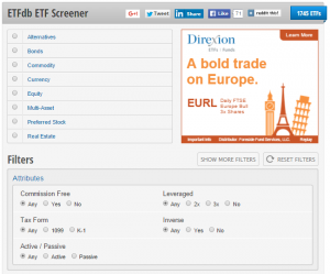 The Webs Best ETF Screener  ETF Database